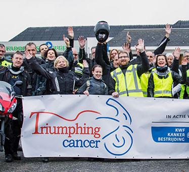 Tweede editie Triumphing cancer: rijd mee en steun KWF