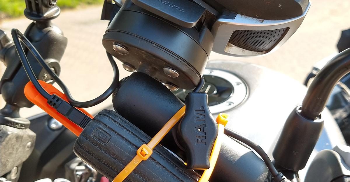 Voldoende batterij voor je navigatie op de motor